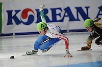 SCHAATSEN: DORDRECHT: Sportboulevard, Korean Air ISU World Cup Finale, 11-02-2012, Tommaso Dotti ITA (41), ©foto: Martin de Jong