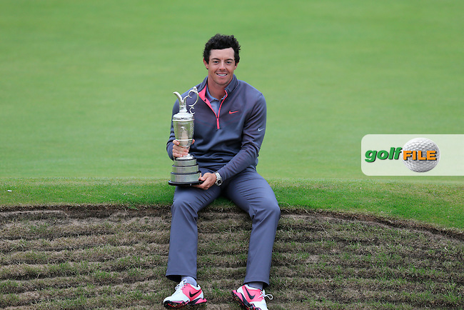 Rory MCILROY (NIR) is the 2014 Open Champion: <br /> Rory shot a final round of one under par to finish on 271 strokes, 17 under par at The 143rd Open championship Royal Liverpool Golf club, Hoylake, England.: Picture Eoin Clarke, www.golffile.ie: 20th July 2014