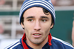 17 November 2007: Michael Parkhurst. The New England Revolution practiced at RFK Stadium in Washington, DC one day before playing in MLS Cup 2007, Major League Soccer's championship game.