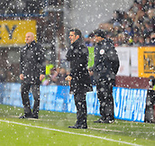 9th December 2017, Turf Moor, Burnley, England; EPL Premier League football, Burnley versus Watford; Watford manager Marco Silva shouts instructions from the sidelines