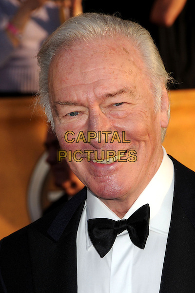 CHRISTOPHER PLUMMER .16th Annual Screen Actors Guild Awards - Arrivals held at The Shrine Auditorium, Los Angeles, California, USA, .23rd January 2010..SAG SAGs portrait headshot  black bow tie smiling .CAP/ADM/BP.©Byron Purvis/Admedia/Capital Pictures