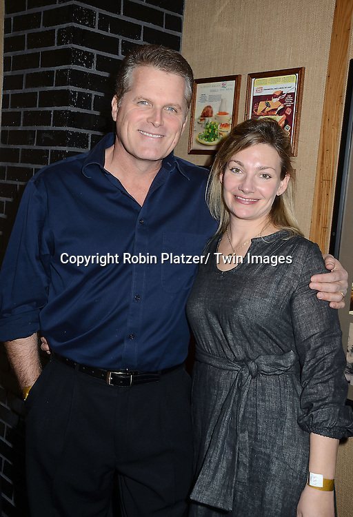 "Robert Newman and Beth Ehlers attends the Ricky Paull Goldin premiere party and fundraiser for his new HGTV show ""Spontaneous Construction"" which will air on February 15, 2013. The party was on February 10, 2013 at Guy's American Kitchen in New York City."