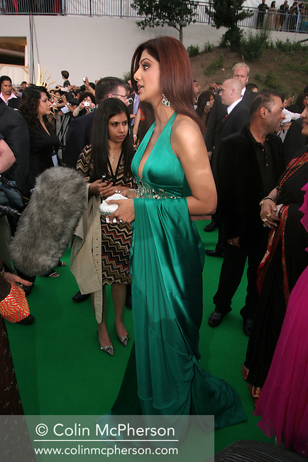 Indian actress and model Shilpa Shetty arriving at the International Indian Film Academy Awards (IIFA) ceremony at the Hallam Arena in Sheffield for the annual IIFA awards. The awards were known as the 'Bollywood Oscars' and ran from 7-10th June. They were watched by an estimated global television audience 500 million people.