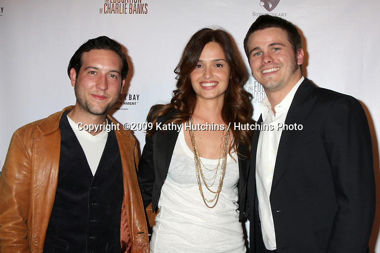 "Chris Marquette, Gloria Votsis,  & Jason Ritter  arriving at  ""The Education of Charlie Banks"" Premiere, a Anchor Bay Entertainment Film,  at the ArcLight Theaters in Los Angeles, CA on  March 18, 2009 .©2009 Kathy Hutchins / Hutchins Photo...                ."