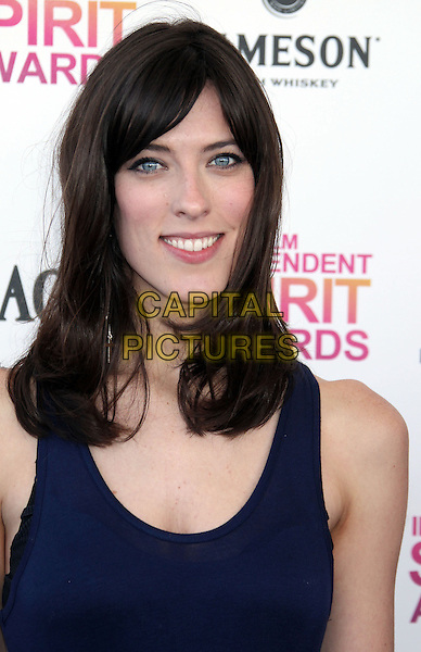 Rebecca Thomas.2013 Film Independent Spirit Awards - Arrivals Held At Santa Monica Beach, Santa Monica, California, USA,.23rd February 2013..indy indie indies indys portrait headshot blue sleeveless .CAP/ADM/RE.©Russ Elliot/AdMedia/Capital Pictures