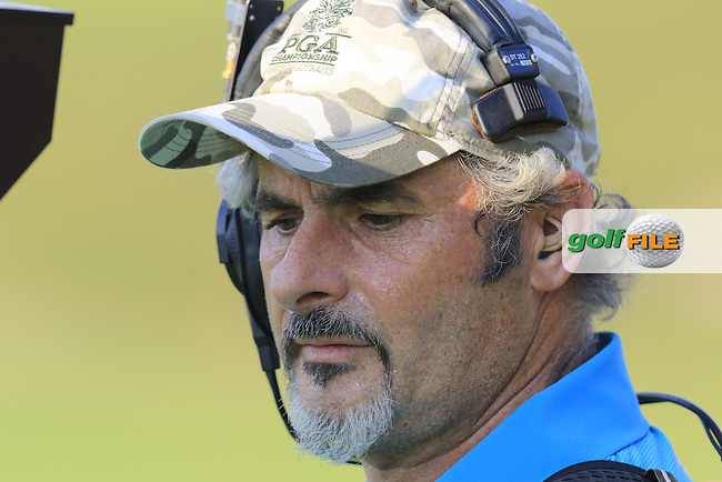 David Feherty on the 18th hole during Sunday's Final Round of the 97th US PGA Championship 2015 held at Whistling Straits, Mosel, Kohler, Wisconsin, United States of America. 16/08/2015.<br /> Picture Eoin Clarke, www.golffile.ie