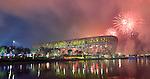 Olympia 2008 in Peking, Eroeffnungsfeier und Feuerwerk im Olympia Stadion