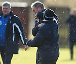 Kenny McDowall lands one on Ally McCoist's chin during training