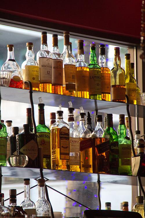 Seattle, Dahlia Lounge, liquor behind the bar, spirits, Belltown Restaurants, Tom Douglas,
