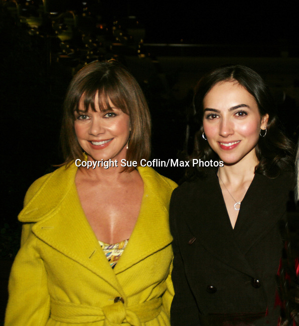 AMC's Bobbie Eakes and Eden Riegel pose at the ABC Daytime Casino Night on October 23, 2008 at Guastavinos, New York CIty, New York. (Photo by Sue Coflin/Max Photos)