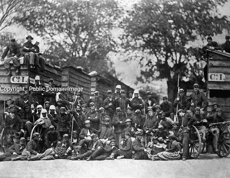 Group of soldiers.  Mathew Brady Collection. (Army)<br /> Exact Date Shot Unknown<br /> NARA FILE #:  111-B-1048<br /> WAR & CONFLICT BOOK #:  149