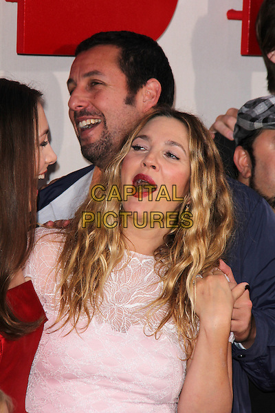 HOLLYWOOD, CA - May 21: Drew Barrymore, Adam Sandler at the &quot;Blended&quot; Premiere, Chinese Theater, Hollywood,  May 21, 2014.  <br /> CAP/MPI/JO<br /> &copy;Janice Ogata/MediaPunch/Capital Pictures