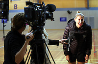 14.07.2014 Casey Kopua - The Silver Ferns train in Auckland ahead of them leaving for the Commonwealth Games. Mandatory Photo Credit ©Michael Bradley.