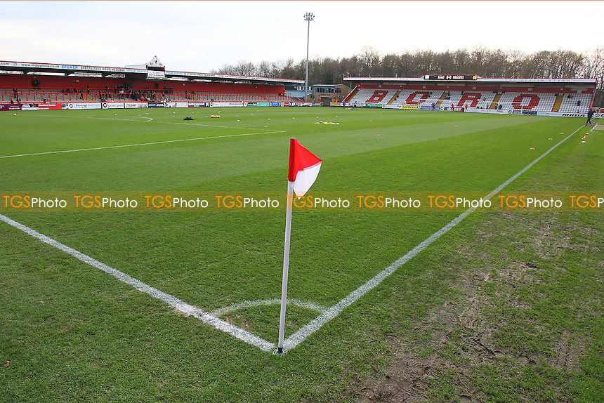 General view of the ground ahead of kick-off during Stevenage vs Dagenham and Redbridge, Sky Bet League 2 Football at the Lamex Stadium, Stevenage, England on 28/12/2015