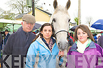 Michael, Niamh and Aine O'Connor Caragh Lake with their horse at Milltown Fair on Sunday