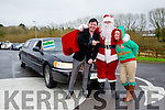Santa arrives in a stretch limo at the Wetlands on Sunday. Pictured with mark Leen and Joanie McAuliffe (Tralee Bay Wetlands)