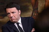 Roma,7 Aprile 2016<br /> Matteo Renzi in conferenza stampa sulla banda larga