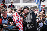 Luke Rowe (WAL) Team Sky at the team presentations in Compiegne before Paris-Roubaix 2019, Compiegne, France. 13th April 2019<br /> Picture: ASO/Pauline Ballet | Cyclefile<br /> All photos usage must carry mandatory copyright credit (&copy; Cyclefile | ASO/Pauline Ballet)