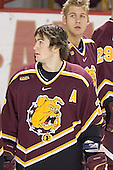 Greg Rallo, Andrew Winnik - The Boston College Eagles and Ferris State Bulldogs tied at 3 in the opening game of the Denver Cup on Friday, December 30, 2005, at Magness Arena in Denver, Colorado.  Boston College won the shootout to determine which team would advance to the Final.