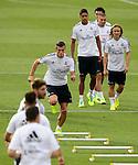 MADRID.ESPAÑA.FUTBOL.<br /> Entrenamiento del Real Madrid, a 27/09/2013.<br /> En la imagen :<br /> Garreth Bale