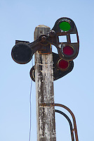 Railroad signal, Rhyolite ghost town, Nevada
