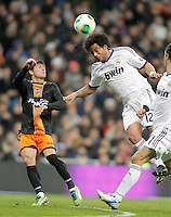 Real Madrid's Marcelo against Valencia's Pablo Piatti during King's Cup match. January 15, 2013. (ALTERPHOTOS/Alvaro Hernandez) /NortePhoto