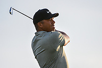 Jhonattan Vegas (VEN) watches his tee shot on 11 during day 2 of the Valero Texas Open, at the TPC San Antonio Oaks Course, San Antonio, Texas, USA. 4/5/2019.<br /> Picture: Golffile | Ken Murray<br /> <br /> <br /> All photo usage must carry mandatory copyright credit (© Golffile | Ken Murray)