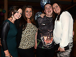 Dean Simpson celebrating his 18th birthday in the Thatch with friends Zoe Kerr, Megan Kelly and Justine McGuirk. Photo:Colin Bell/pressphotos.ie