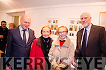 Compiler Maurice O'Keeffe pictured at the Carnegie Arts Theatre Exhibition on Rosalie Rice with the Quill sisters Ita and Maureen (nieces of Rosalie Rice) and Denis Barrett (Rosalie's son).