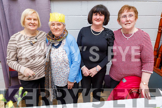 Eileen Reidy, Marie Clifford, Theresa Lehane and Kathleen McMullin enjoying the Connolly Park Active Retirement party in the Austin Stacks Clubhouse on Sunday.