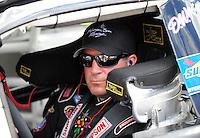 Sept 19, 2008; Dover, DE, USA; NASCAR Camping World Series East driver Matt Kobyluck during qualifying prior to the Sunoco 150 at Dover International Speedway. Mandatory Credit: Mark J. Rebilas-