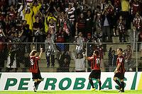 CURITIBA, PR, 15 DE MARÇO 2012 – ATLÉTICO-PR X SAMPAIO CORRÊA-MA - Marcinho (11), comemora o gol do Atlético contra o Sampaio Corrêa durante o segundo jogo da primeira fase da Copa do Brasil. A partida aconteceu na noite de quinta-feira (15), na Vila Capanema, em Curitiba. <br /> (FOTO: ROBERTO DZIURA JR./ BRAZIL PHOTO PRESS)