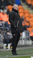 Blackpool's Manager Terry McPhillips Shouts to his team during the game<br /> <br /> Photographer Dave Howarth/CameraSport<br /> <br /> The EFL Sky Bet League One - Blackpool v Doncaster Rovers - Tuesday 12th March 2019 - Bloomfield Road - Blackpool<br /> <br /> World Copyright © 2019 CameraSport. All rights reserved. 43 Linden Ave. Countesthorpe. Leicester. England. LE8 5PG - Tel: +44 (0) 116 277 4147 - admin@camerasport.com - www.camerasport.com