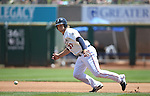 Reno Aces&rsquo; Kyle Jensen watches a hit go past as he runs the bases against the Salt Lake Bees at Greater Nevada Field in Reno, Nev., on Tuesday, June 7, 2016. <br />
