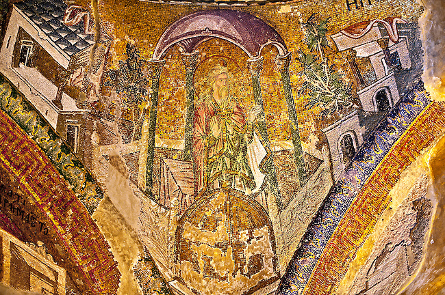 The 11th century Roman Byzantine Church of the Holy Saviour in Chora and its mosaic of Joseph. Endowed between 1315-1321  by the powerful Byzantine statesman and humanist Theodore Metochites. Istanbul