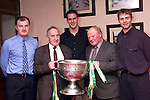 Michael McQuillan, Kevin Lenehan, Cormac Sullivan, Pat Collier and Cormac Murphy at the St. Patrick's G.F.C. Dinner Dance in the Glenside Hotel..Picture Paul Mohan Newsfile