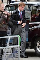 LONDRES, INGLATERRA, 05 DE JUNHO 2012 - JUBILEU DE DIAMANTE DA RAINHA ELIZABETH - O principe Harry chega a Catedral de Sao Paulo durante o Jubileu de Diamante da Rainha Elizabeth em Londres capital do Reino Unido, nesta terça-feira, 05. (FOTO: BILLY CHAPPEL / ALFAQUI / BRAZIL PHOTO PRESS)