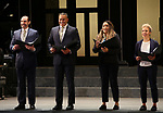 "Javier Munoz, Christopher Jackson, Tracie Thoms and Tilly Evans-Krurger during the Opening Night performance bows for ENCORES! Off-Center production of ""Working - A Musical""  at New York City Center on June 26, 2019 in New York City."
