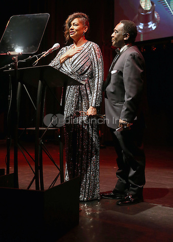 Hollywood, CA - February 19: Melissa Forney, Sterfon Demings, At 3rd Annual Hollywood Beauty Awards_Show, At Avalon Hollywood In California on February 19, 2017. Credit: Faye Sadou/MediaPunch