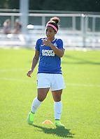 Kansas City, MO - Sunday September 04, 2016: Desiree Scott prior to a regular season National Women's Soccer League (NWSL) match between FC Kansas City and the Sky Blue FC at Swope Soccer Village.