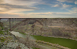 Idaho, south central, Twin Falls. The Perrine Bridge in Spring.