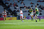 17-1-2017: David Clifford scores his first goal after 17 seconds in the All-Ireland Football final at Croke Park on Sunday.<br /> Photo: Don MacMonagle