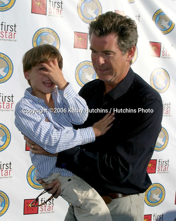 Pierce Brosnan & son Paris.First Star's Celebration for Children's Rights Benefit.Barker Hanger.Santa Monica, CA.June 3, 2006.©2006 Kathy Hutchins / Hutchins Photo....