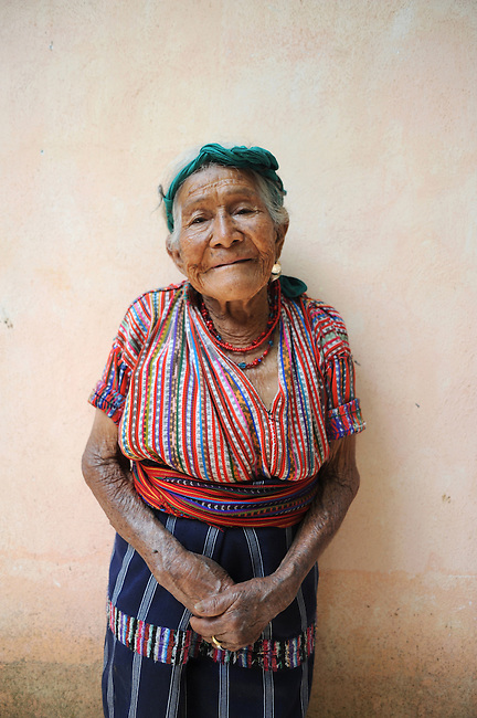 Guatemalan women from Solola, Solola, Guatemala, wearing Mayan traditional clothing called Guipil (shirt)  and corte (skirt).  Traditinal clothing is used in Indigenous community and corte and corte are unique to each village.