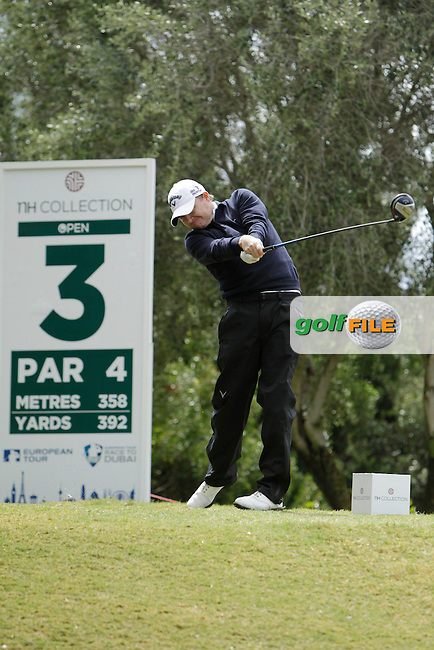 James Morrison (ENG) during Round 1 of the NH Collection Open at the La Reserva de Sotogrande Club de Golf in Cadiz Spain on Thursday 3rd April 2014<br /> Picture:  Thos Caffrey / www.golffile.ie