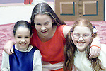 Tracey Carroll, Castletown, Orla Carroll, Castletown and Kerri Price, Ladyrath who took part in the Rathkenny Revels play in the Rathkenny Community Centre..Picture Paul Mohan Newsfile