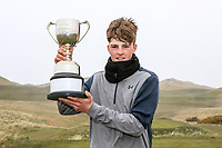 Luke O'Neill (Connemara) winner of the Connacht U18 Boys Open 2018 on Carne Golf Links at Belmullet Golf Club on Sunday 6th April 2018.<br /> Picture:  Thos Caffrey / www.golffile.ie<br /> <br /> All photo usage must carry mandatory copyright credit (&copy; Golffile | Thos Caffrey)