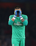PSG's Alphonse Areola looks on dejected after a missed chance during the Champions League group A match at the Emirates Stadium, London. Picture date November 23rd, 2016 Pic David Klein/Sportimage