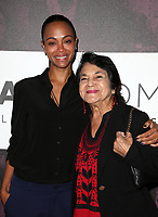 LOS ANGELES, CA - NOVEMBER 2: Zoe Saldana, Dolores Huerta, at TheWrap&rsquo;s Power Women&rsquo;s Summit Day2 at the InterContinental Hotel in Los Angeles, California on November 2, 2018. <br /> CAP/MPI/FS<br /> &copy;FS/MPI/Capital Pictures