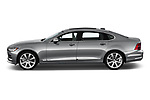 Car driver side profile view of a 2018 Volvo S90 T6 Inscription 4 Door Sedan